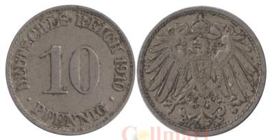 Германская империя. 10 пфеннигов 1910 год. Герб. (A)