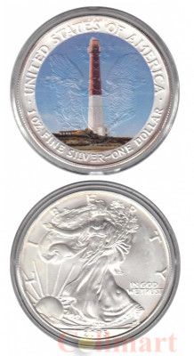 США. 1 доллар 2005 год. Маяк Barnegat Light.